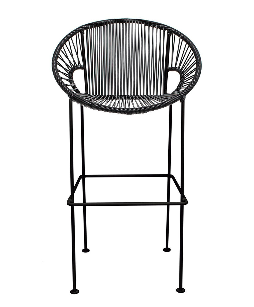 Bar Stools Black Small Puerto Stool (bar height 40'') on Black Frame