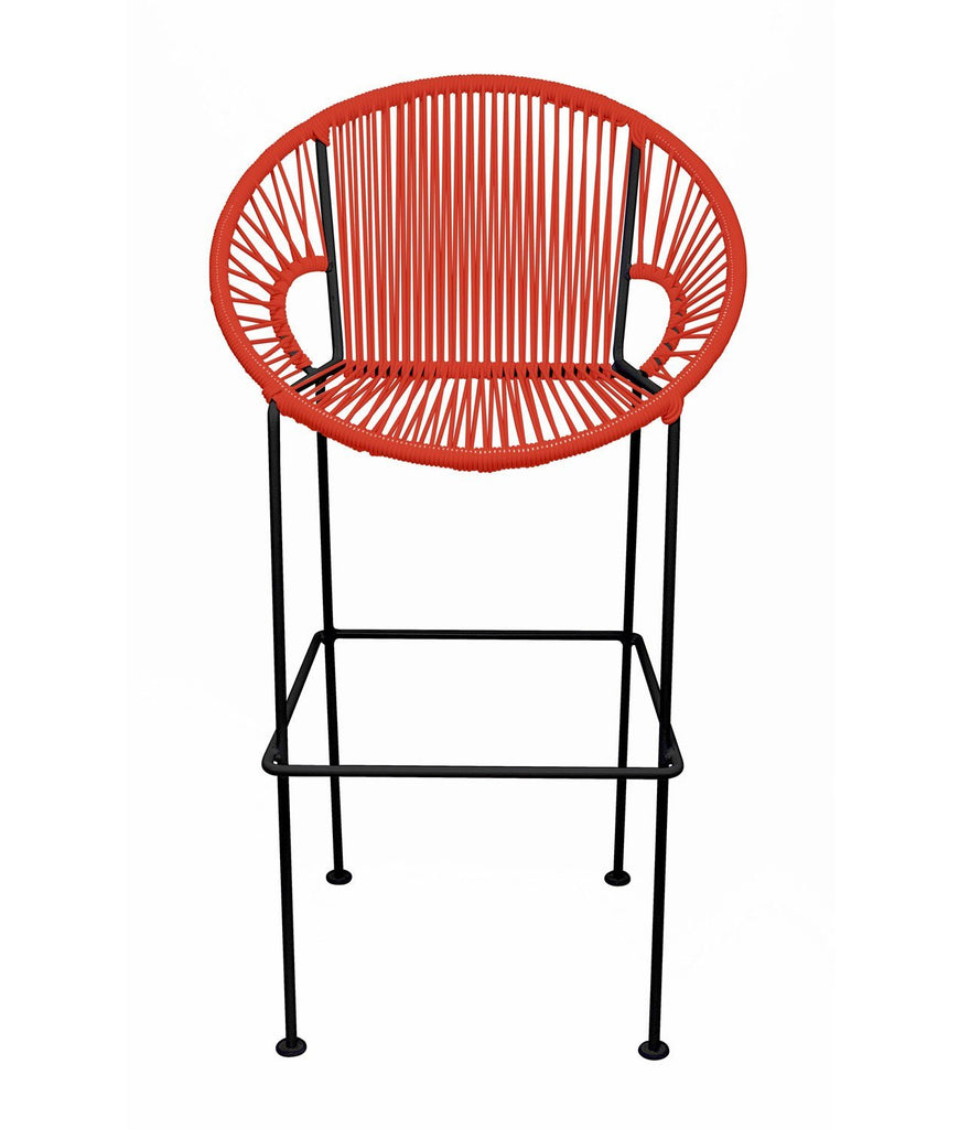 Bar Stools Red Small Puerto Stool (bar height 40'') on Black Frame