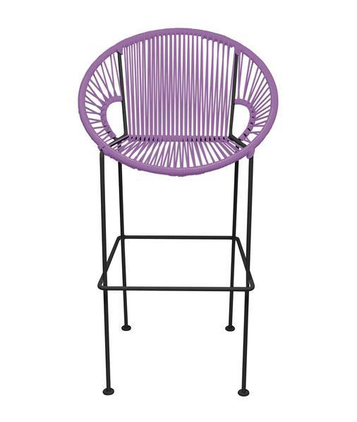 Bar Stools Orchid Small Puerto Stool (bar height 40'') on Black Frame