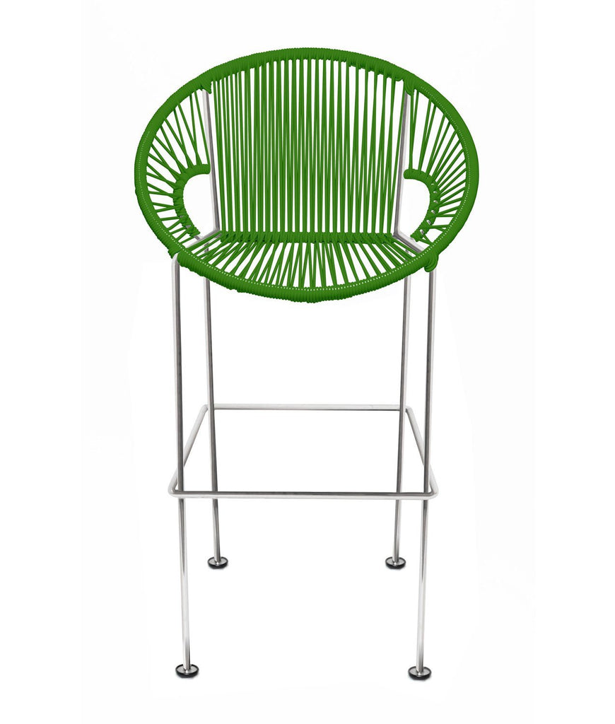 Bar Stools cactus Weave on Chrome frame Small Puerto stool (bar height 40'') on Chrome Frame