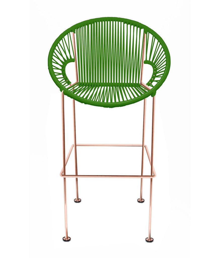 Bar Stools cactus Weave on Copper frame Small Puerto stool (bar height 40'') on Copper Frame
