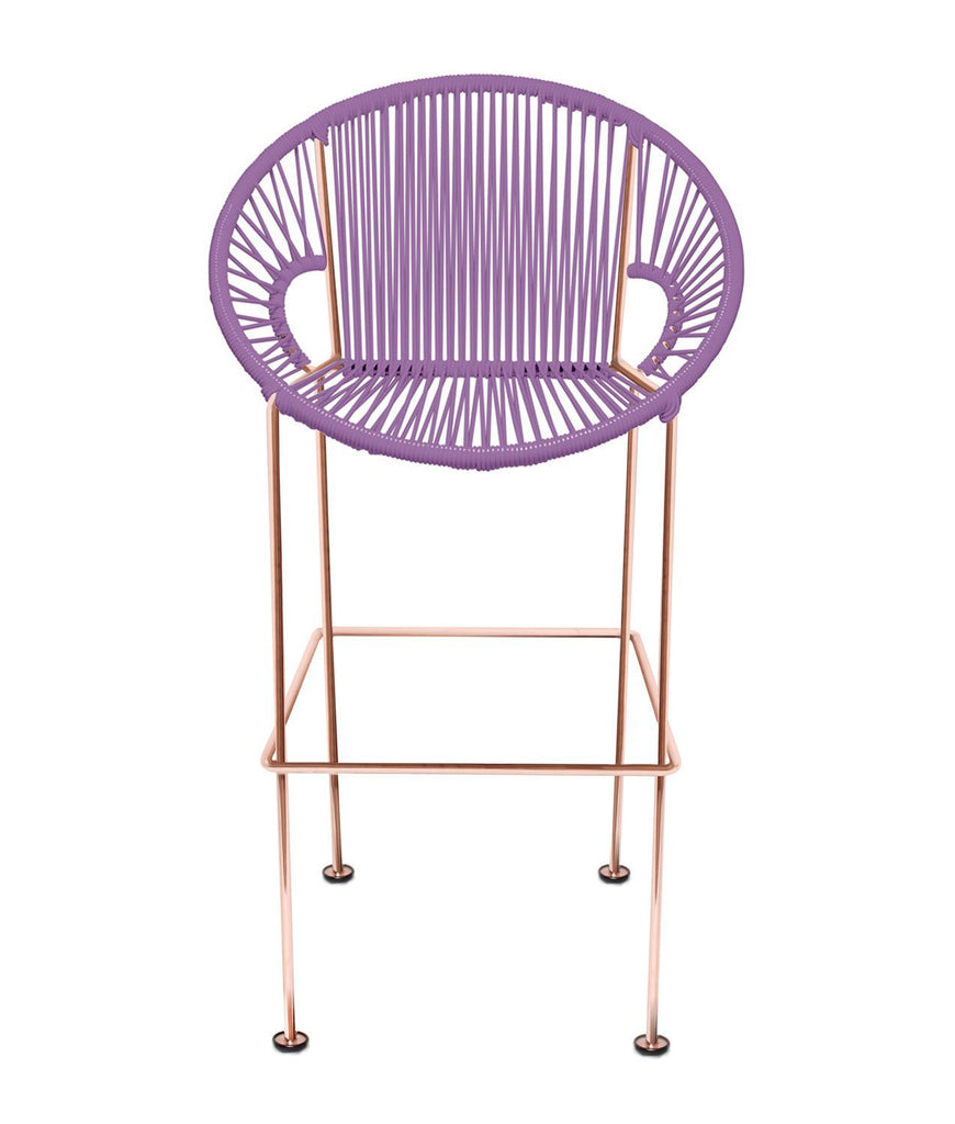 Bar Stools Oorchid Weave on Copper frame Small Puerto stool (bar height 40'') on Copper Frame