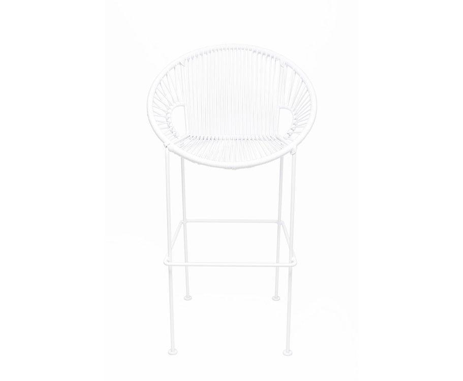 Bar Stools White on White Frame Small Puerto Stool (bar height 40'') on White Frame