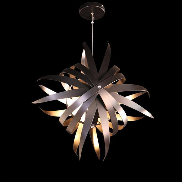 SNOWFLAKE Black Iron Industrial Pendant Light at Lifeix Design