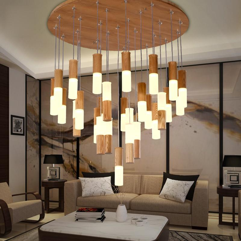 Solid Wood Pendant Light - Modern Style Decorative Light at Lifeix Design
