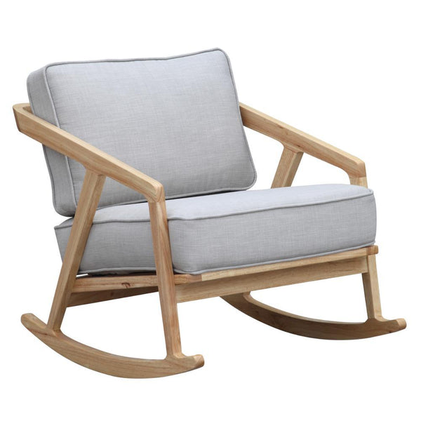 Gray Solo Rocker Arm Chair