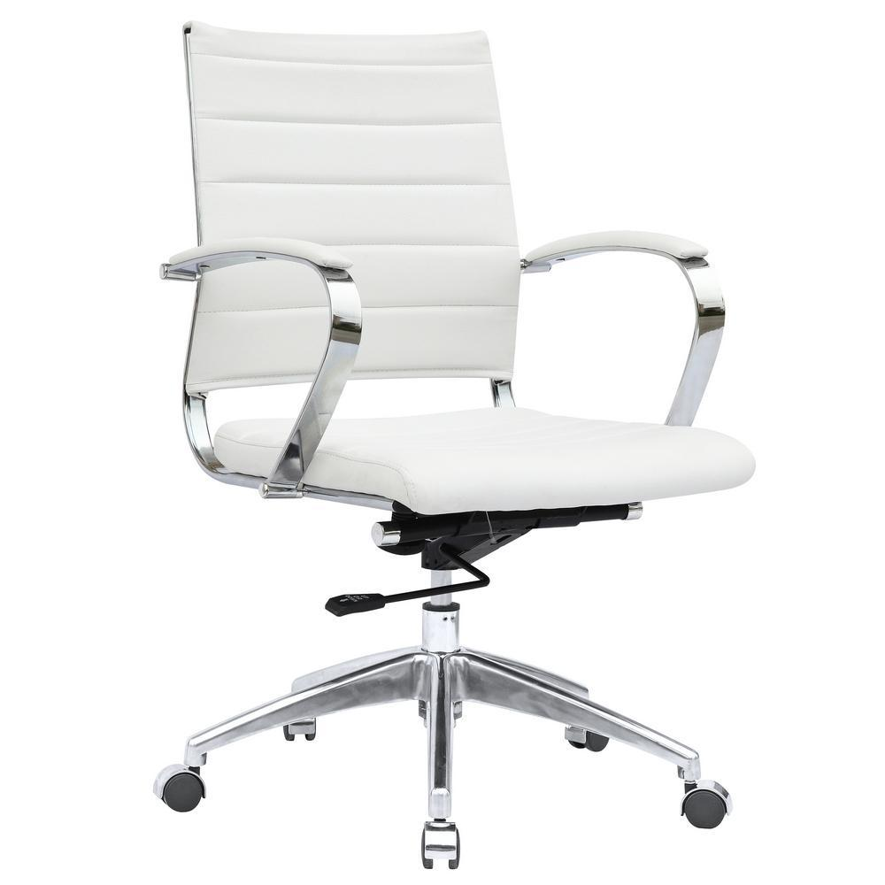 White Sopada Conference Office Chair Mid Back
