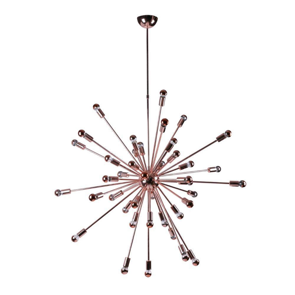 Copper Spark Hanging Chandelier 39""
