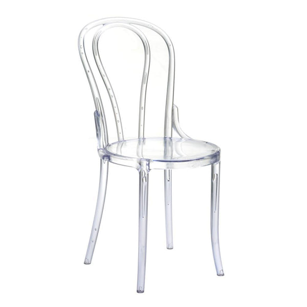 Clear Spin Clear Chair