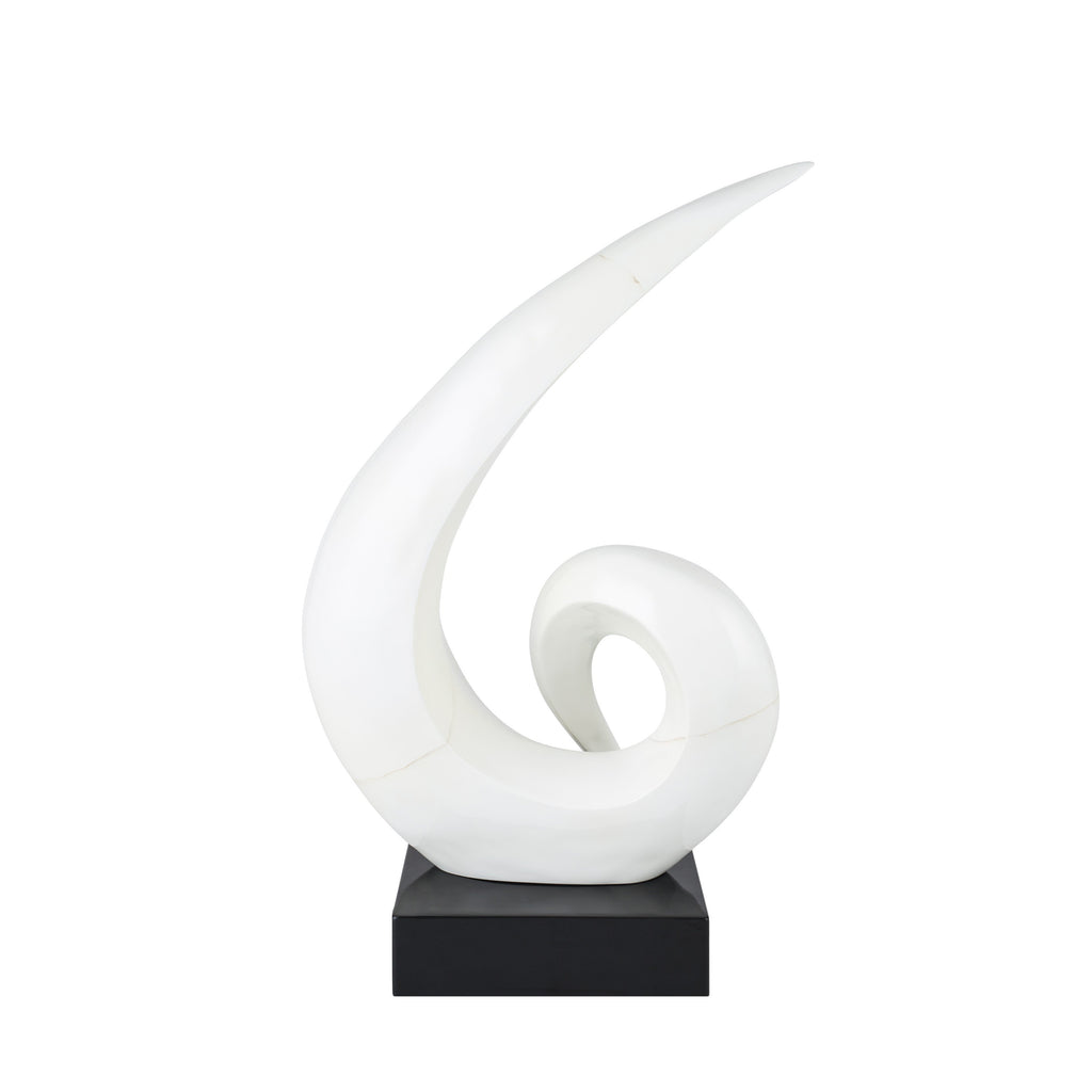 Spirals- White Resin Sulpture