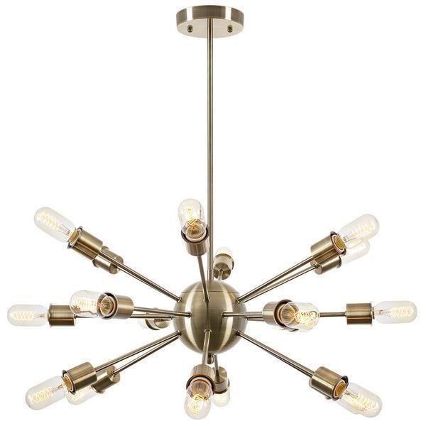 Chandelier Brass / Single Sputnik Style Chandelier