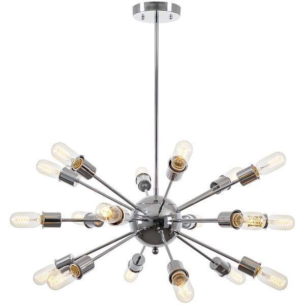 Chandelier Chrome / Single Sputnik Style Chandelier