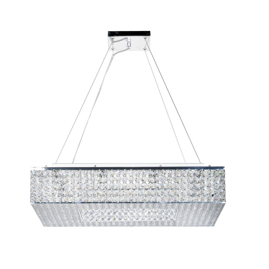 Squared Crystal Chandelier