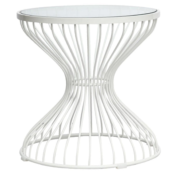 Clear Squeezed Side Table