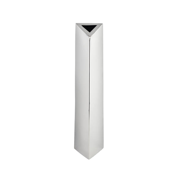 Stainless Steel- Angled Cylinder Vase- Small