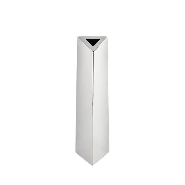 Stainless Steel- Angled Triangular Vase- Large