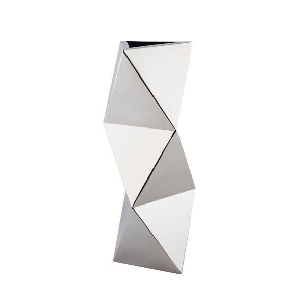 Stainless Steel- Geometric Shapes Vase