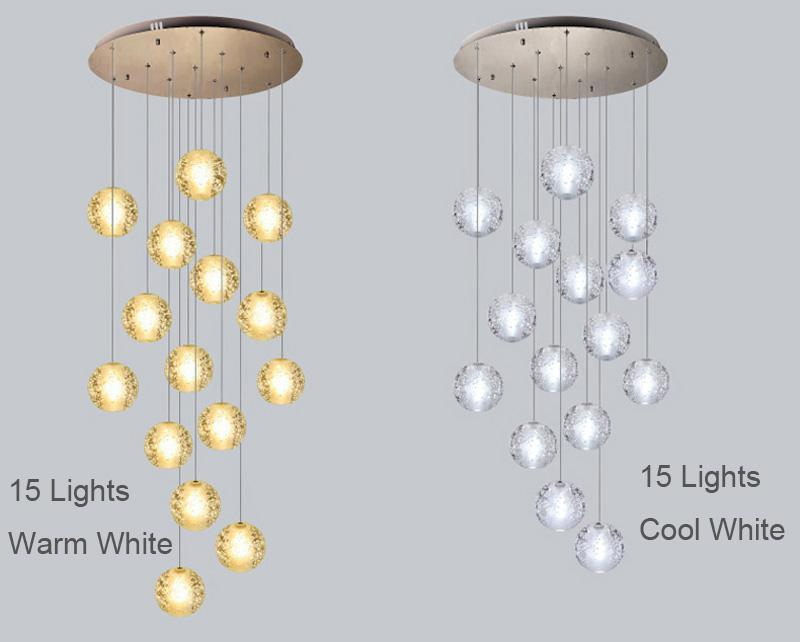 Buy Staircase To Heaven Modern Hanging Glass Globe Pendant Lights - Hanging pendulum lights