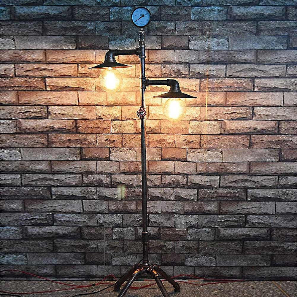 buy standing industrial style floor lamp at lifeix design for only. Black Bedroom Furniture Sets. Home Design Ideas