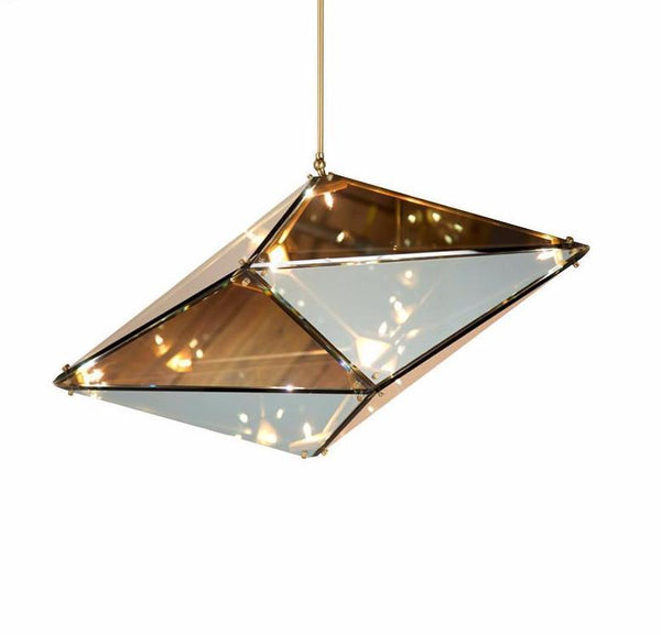 STARRY NIGHT Diamond Shape Glass Pendant Light at Lifeix Design