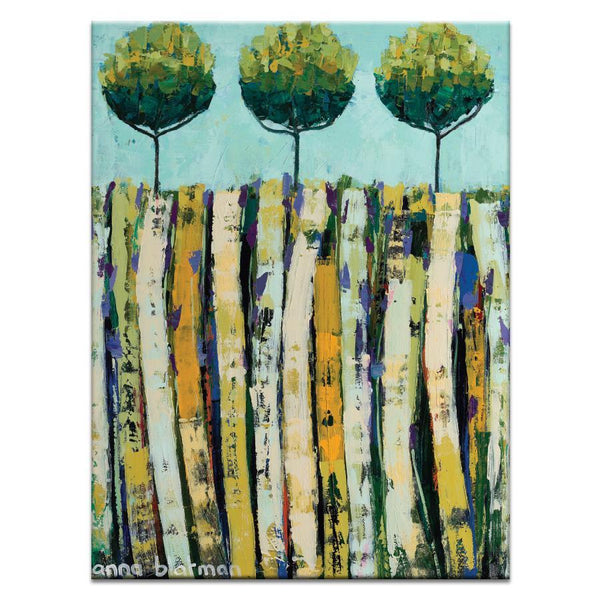 "Artwork 16x20x1.5"" Summer Trees  Artwork by Anna Blatman"