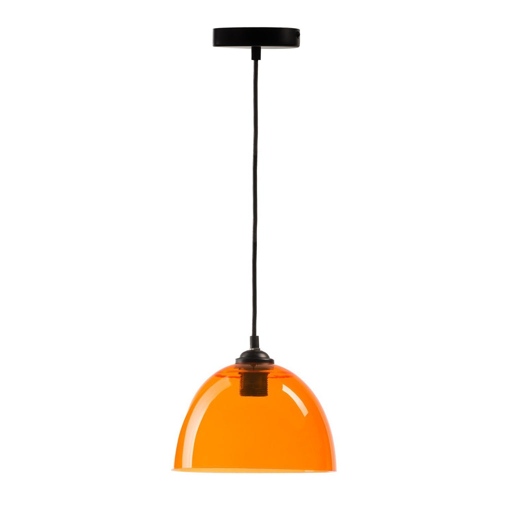 Suspension Bowl- Pendant Lamp- Orange