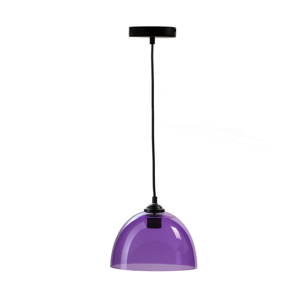 Suspension Bowl- Pendant Lamp- Purple