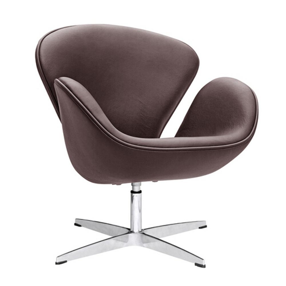 Dark Brown Swan Chair Leather