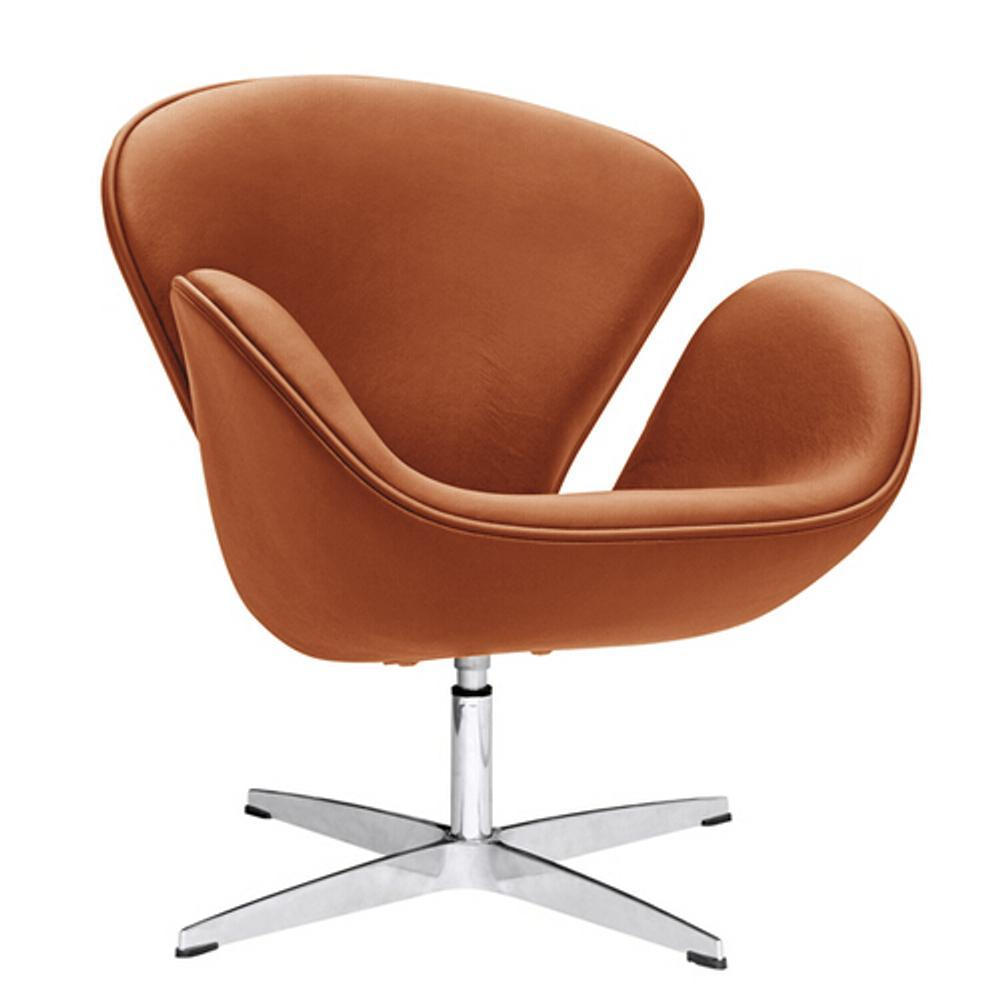 Light Brown Swan Chair Leather
