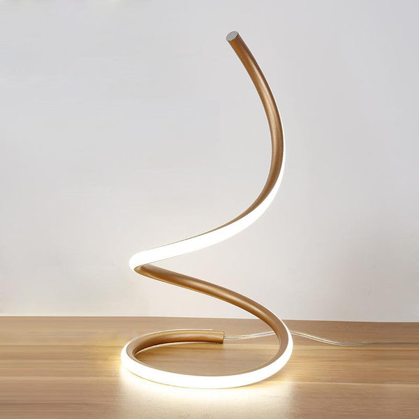 Swirling Line Minimalist LED Table Lamp at Lifeix Design