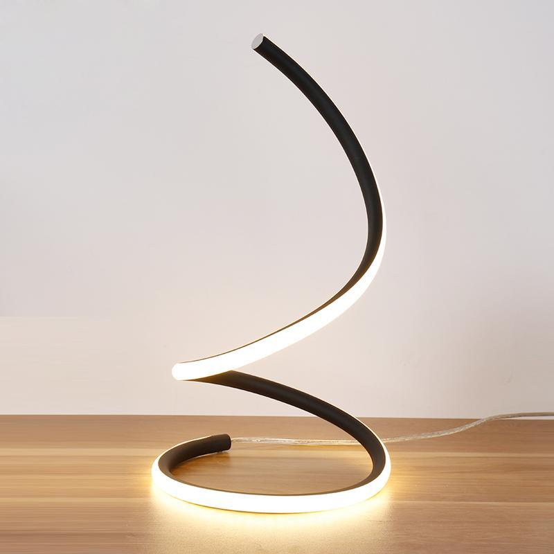 Buy Swirling Line Minimalist Led Table Lamp At Lifeix