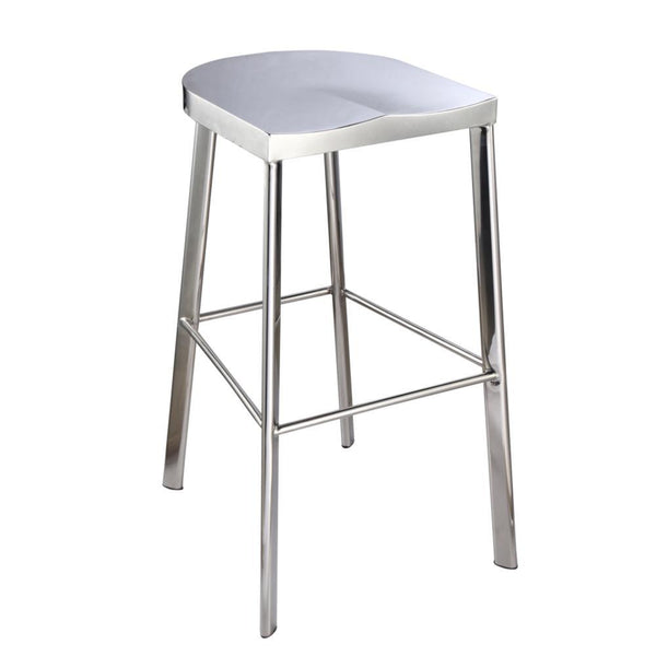 Silver Swiss Polished Bar Stool