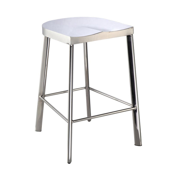 Silver Swiss Polished Counter Stool