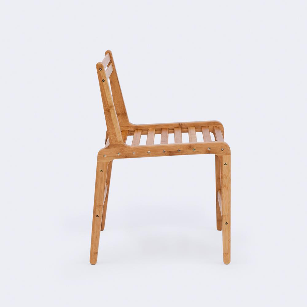 THE ONE Natural Bamboo Dining Chair at Lifeix Design