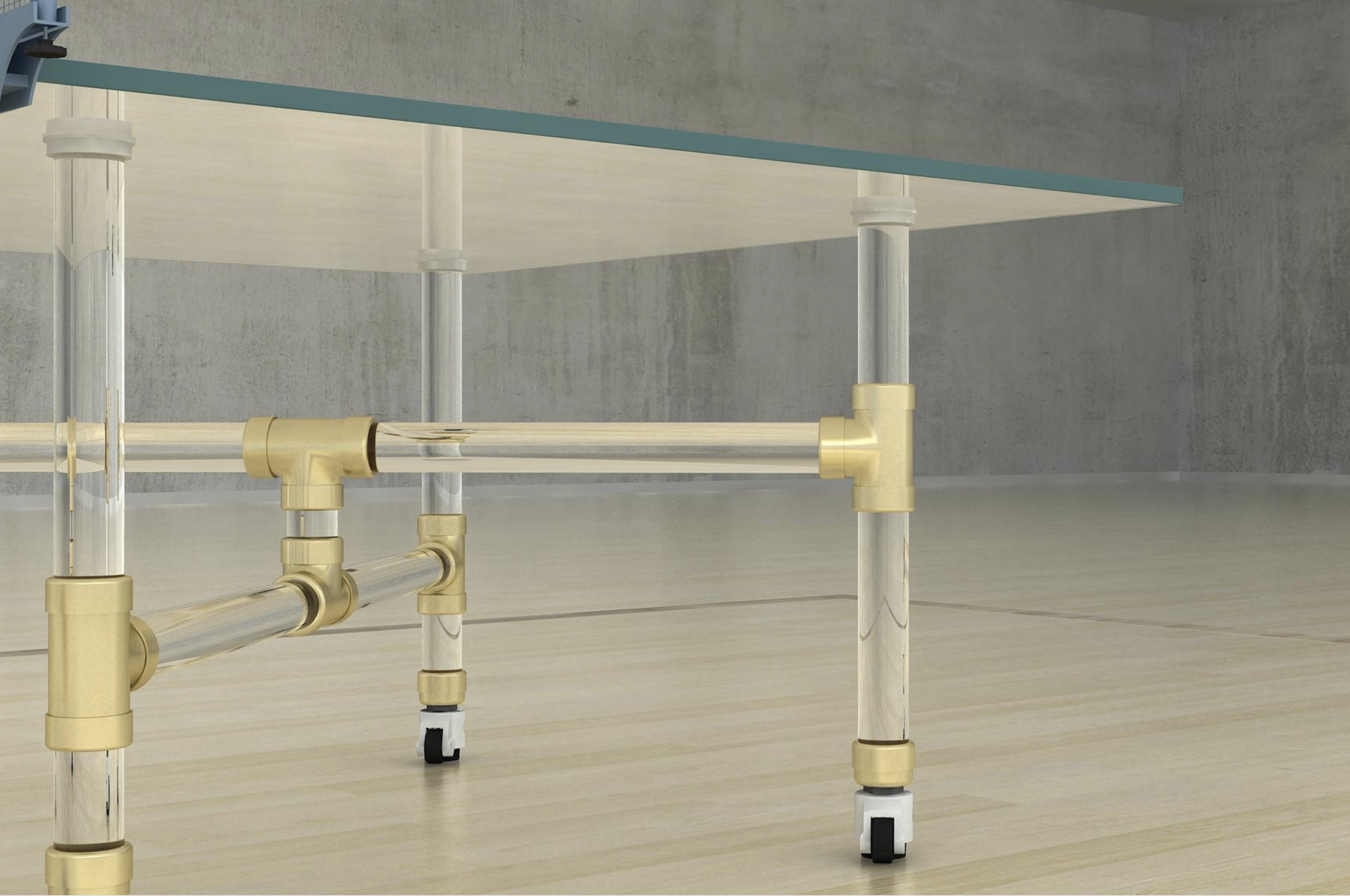 Buy Thorough Glass Ping Pong Table at Lifeix Design for only $6 199 00