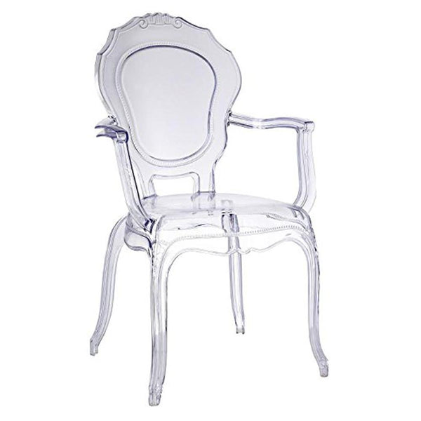 Clear Traditional Dining Chair with Arms