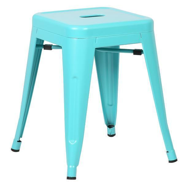 "Chairs Aqua / Single Trattoria 18"" Stool"