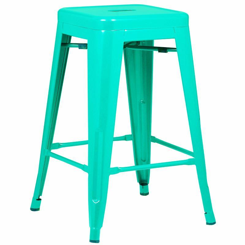"Counter Stool Aqua / Set Of 3 Trattoria 24"" Counter Height Stool (Set of 3)"