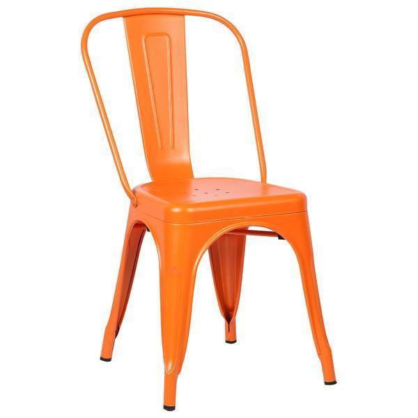 Chair Orange / Set Of 2 Trattoria Side Chair in Orange (Set of 2)