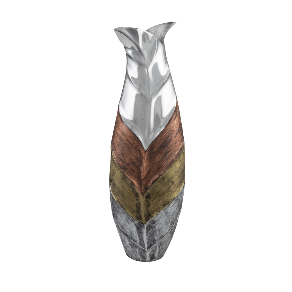Tri- Tone Leaf Bottle Vase