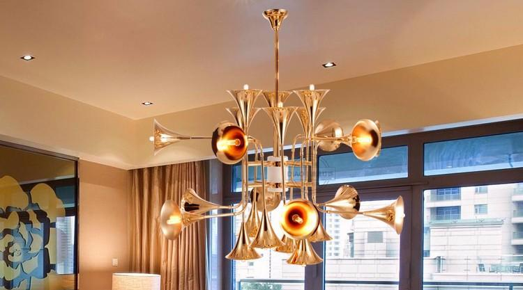 Trumpet Horn Art Design Pendant Light at Lifeix Design