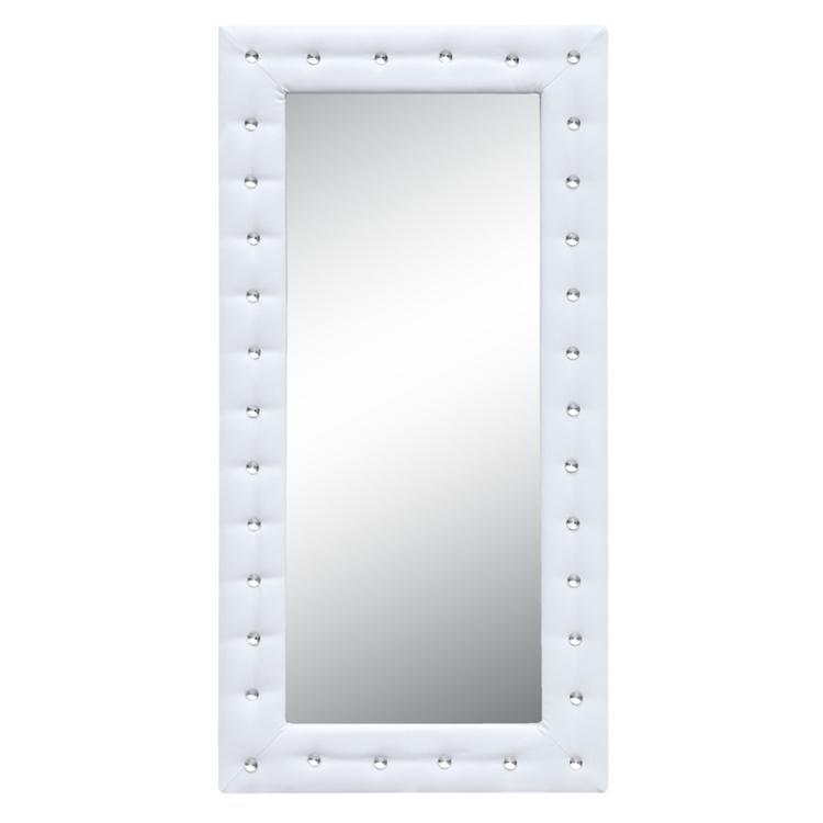 White Tufted Mirror