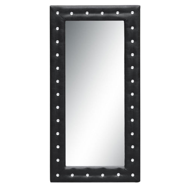 Black Tufted Mirror 36""