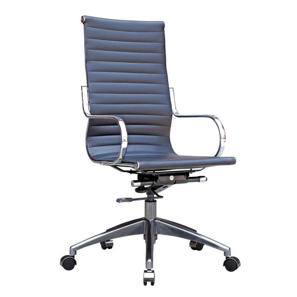 Black Twist Office Chair High Back