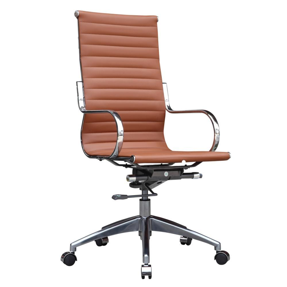 Light Brown Twist Office Chair High Back