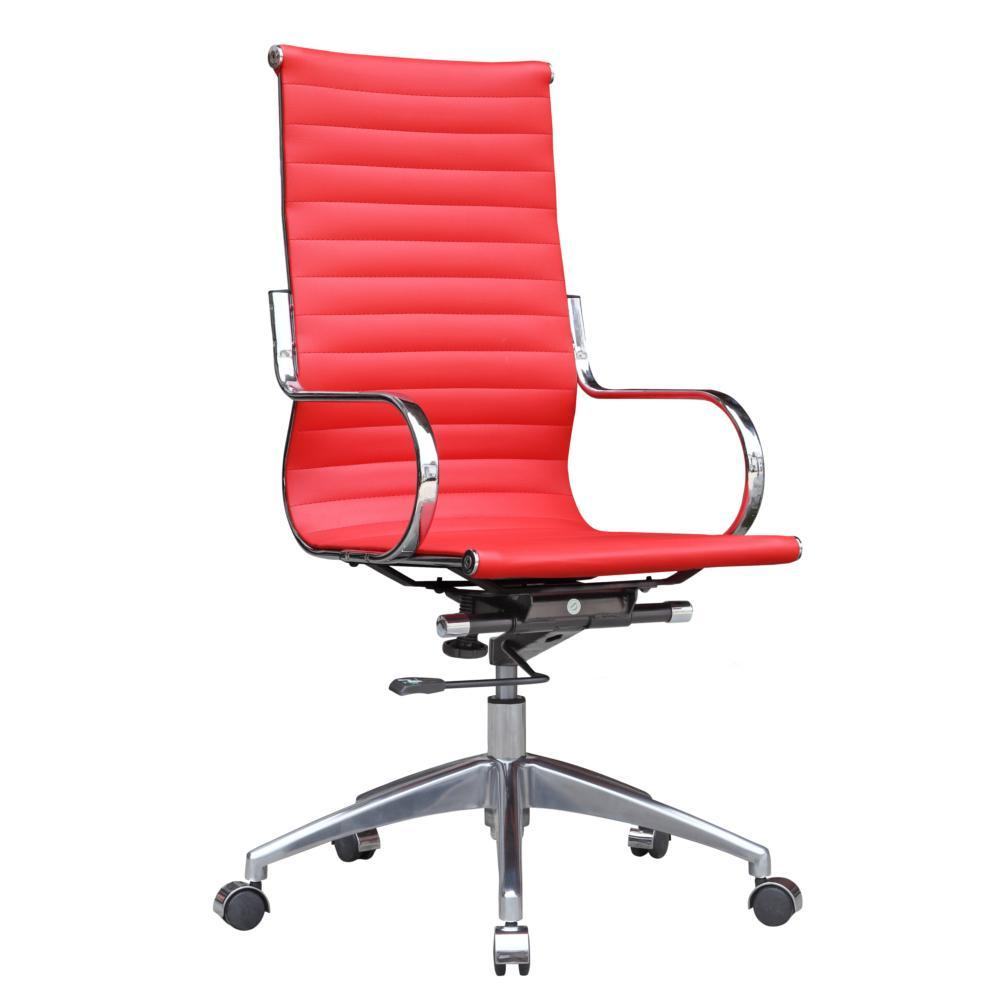 Red Twist Office Chair High Back