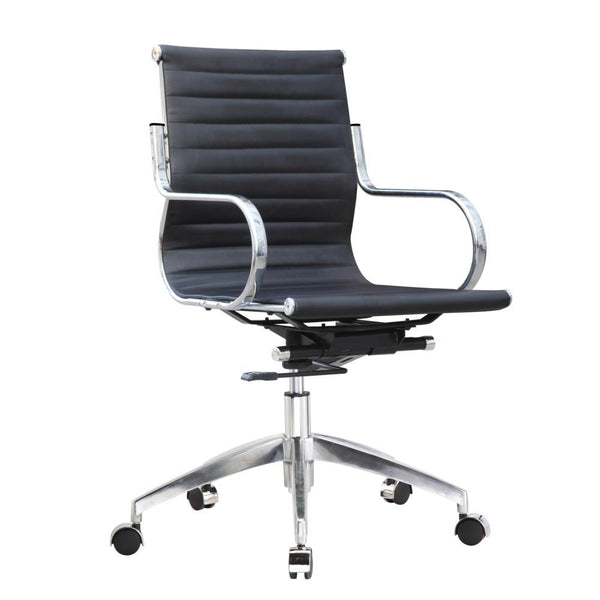 Black Twist Office Chair Mid Back