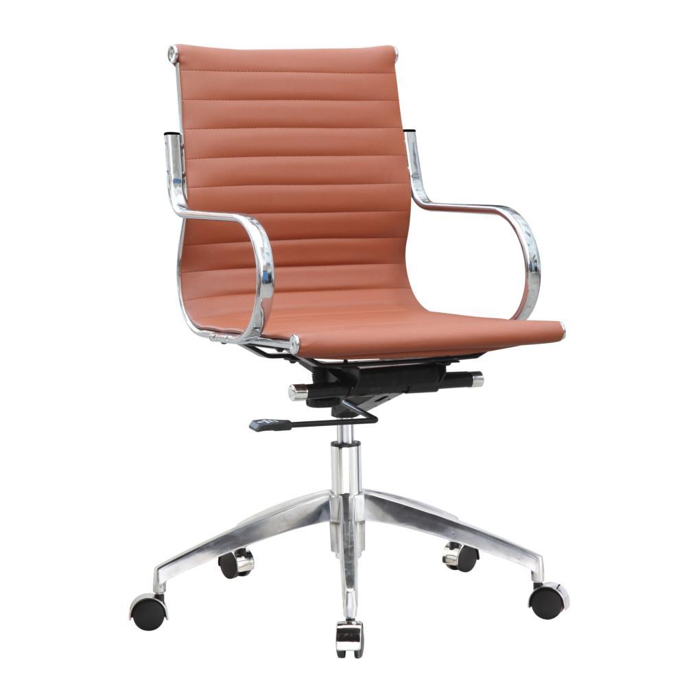 Light Brown Twist Office Chair Mid Back