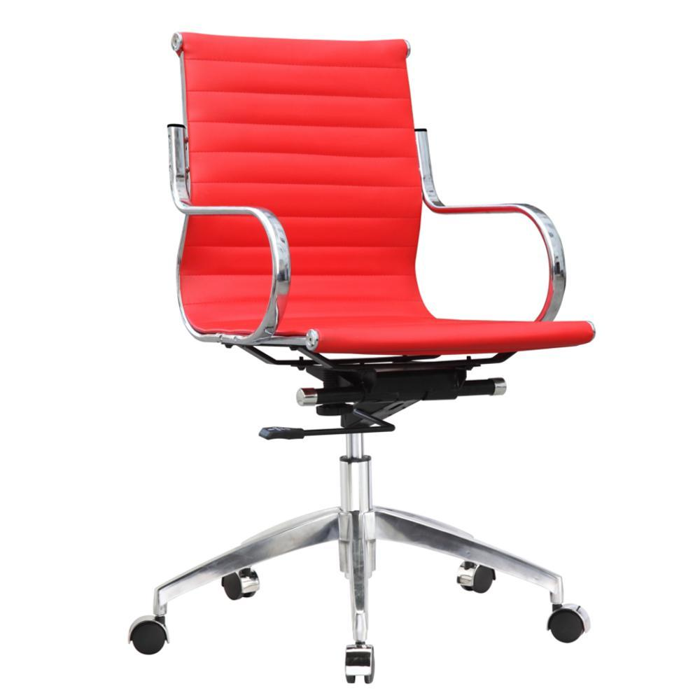 Red Twist Office Chair Mid Back
