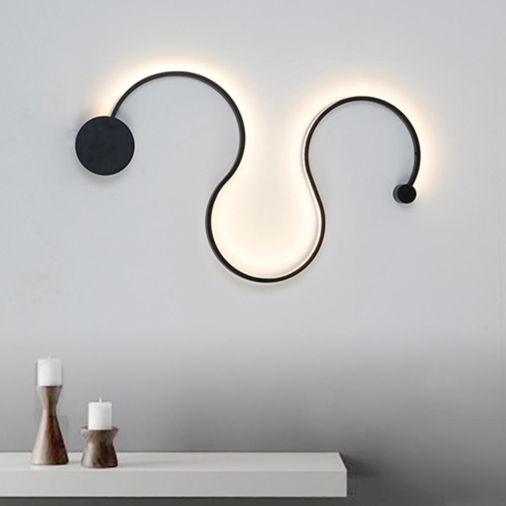 Twisted LED Lighting Fixture - Curved Wall Light at Lifeix Design